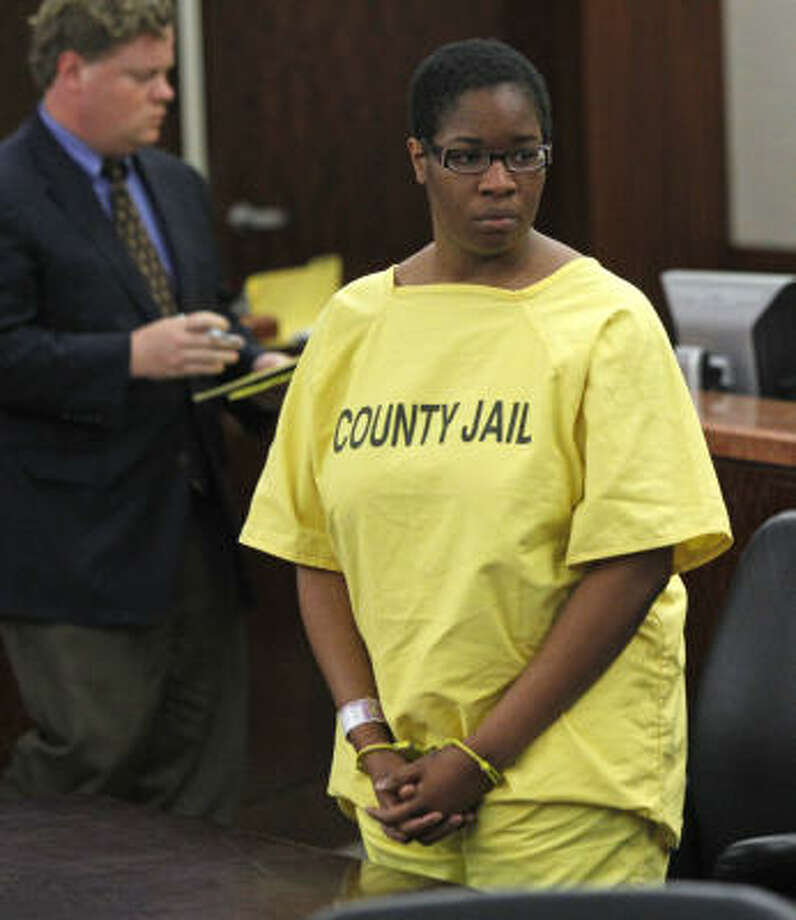 Jessica Tate during court  appearance in the 180th state district court at the Harris County Criminal Courthouse Wednesday, March 23, 2011, in Houston. Photo: Melissa Phillip, Chronicle
