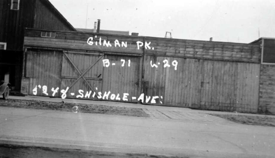 This image isn't dated, but based on assessor notes it appears to have been taken in the summer of 1937. Numbers and other marks are the property description. Photo: Puget Sound Regional Branch Of The Washington State Archives