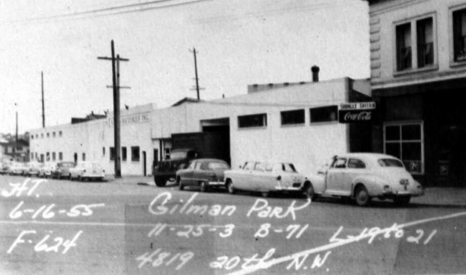 A June 1955 photo of the 4800 block of 20th Avenue Northwest. Photo: Puget Sound Regional Branch Of The Washington State Archives