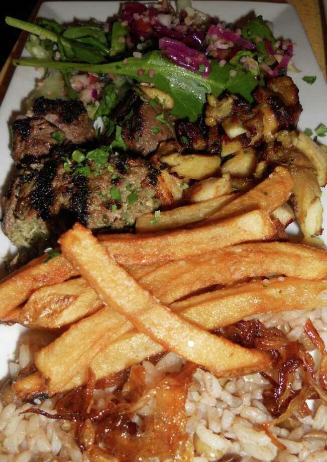 Kofta, chicken shawarma and even hand-cut French fries are on the menu at the new Tabouli Grill in Southport. Photo: Contributed Photo/Patti Woods, Contributed Photo / Fairfield Citizen contributed