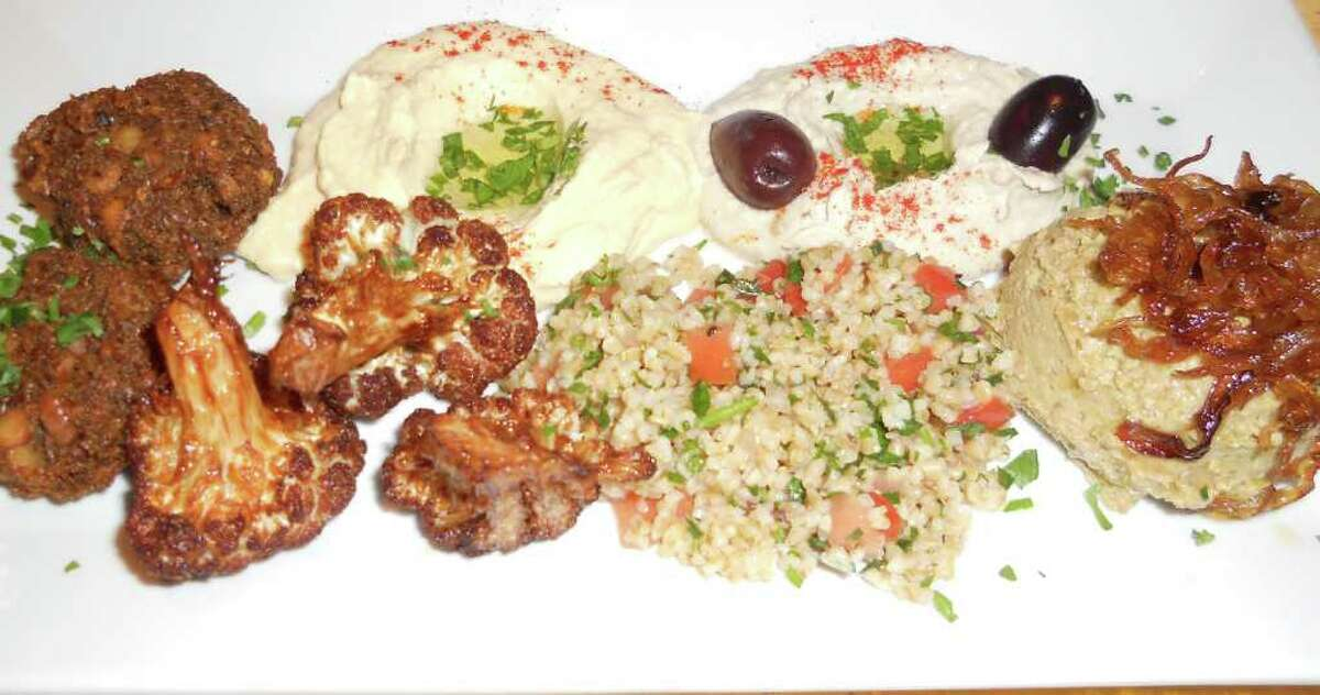 Assortment of Middle Eastern appetizers at the new Tabouli Grill in Southport.