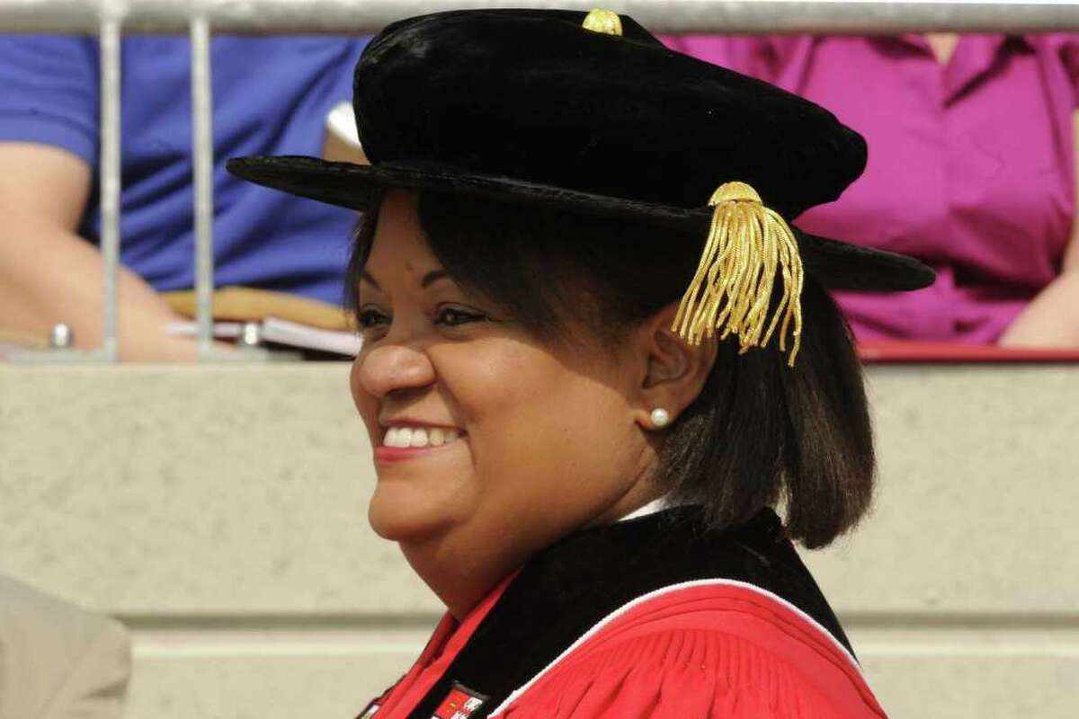 Dr. Regina Benjamin U.S. Surgeon General during Rensselaer Polytechnic Institute?s 205th Commencement Ceremony in Troy, NY Saturday May 28, 2011.( Michael P. Farrell/Times Union )