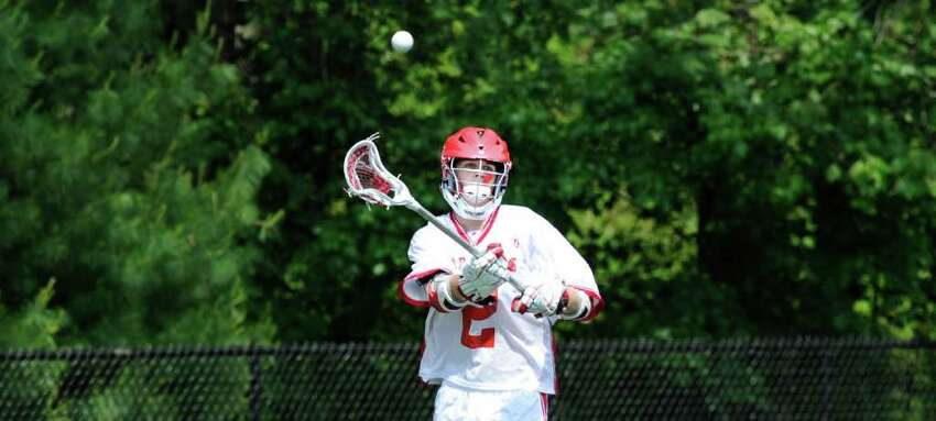 David Dickson, # 2 of GHS during Class L boys lacrosse playoff game between Greenwich High School and Stamford High School at Greenwich High School, Saturday morning, May 28, 2011.