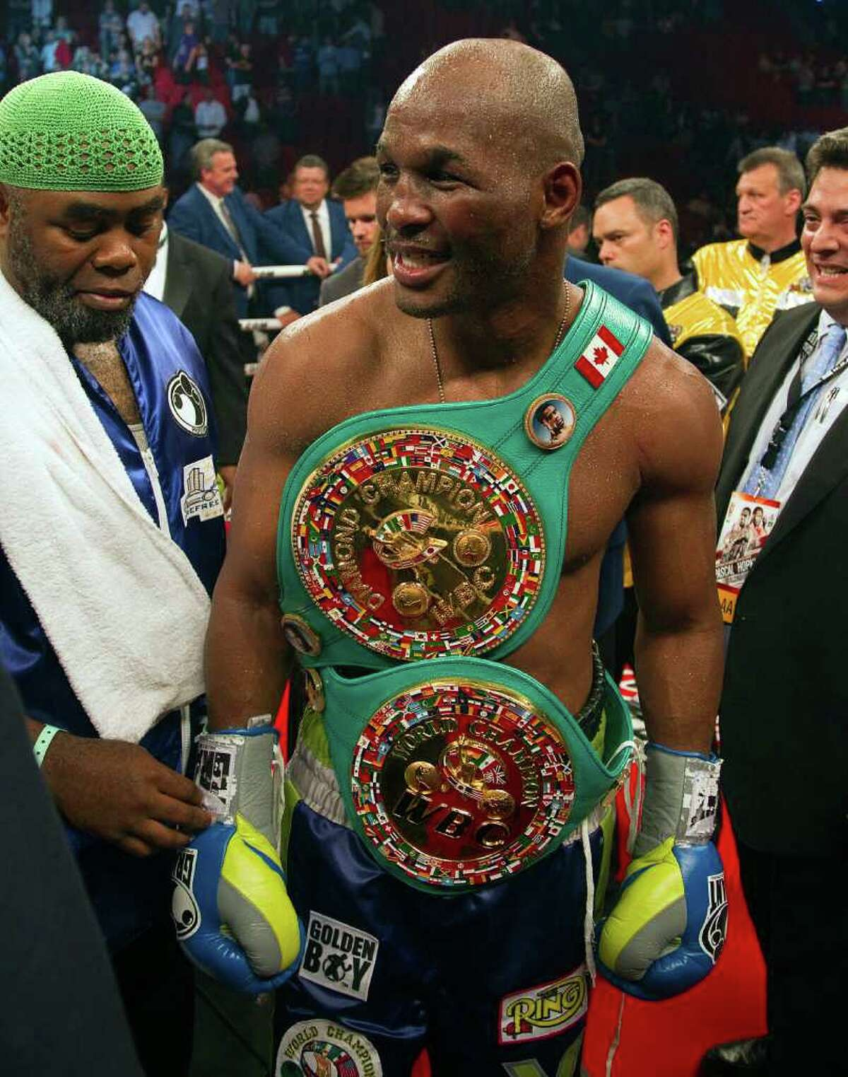 Bernard Hopkins, who recently became boxing's oldest champion at age 46, is already discussing the defense of his light heavyweight title in a potential bout in the fall.