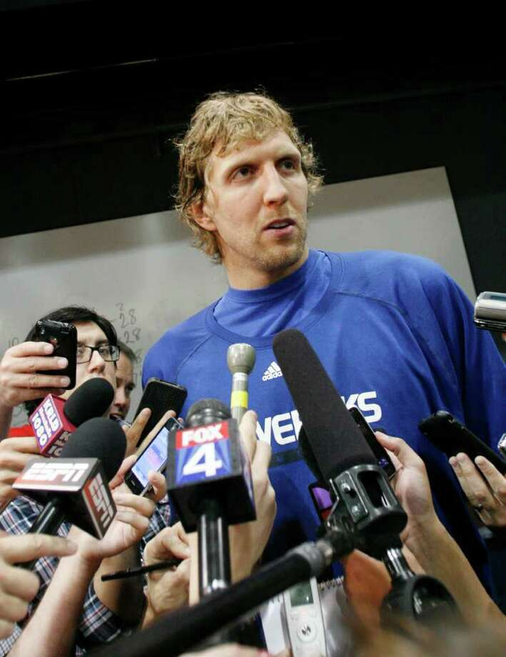 Dirk Nowitzki (above) and LeBron James have been nothing short of spectacular in leading their teams to the NBA Finals. Photo: Mike Fuentes/Associated Press