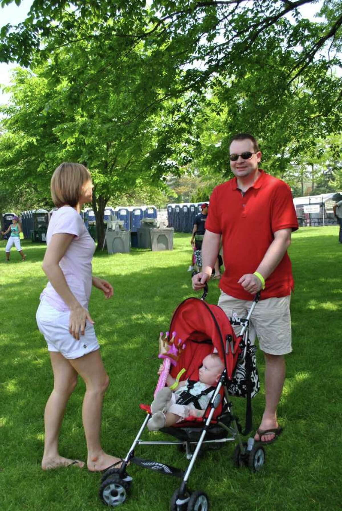 The Greenwich Town Party was on May 28, 2011 at Roger Sherman Baldwin Park in Greenwich.
