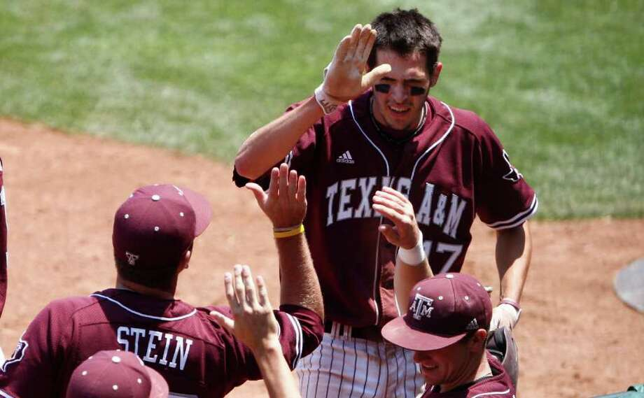 Matt Juengel (top) and Texas A&M will host a regional in College Station that includes Seton Hall, Arizona and Wright State. Photo: Alonzo Adams/Associated Press