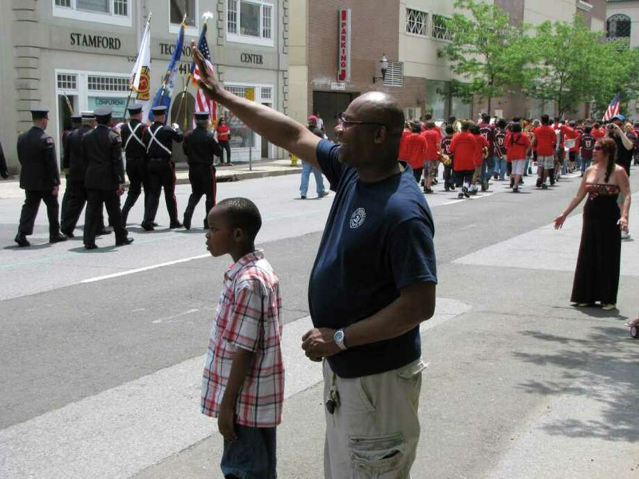 Were you seen at the Stamford Memorial Day Parade in Stamford, CT on Sunday, May 29, 2011? Photo: Vincent Rodriguez / The News-Times