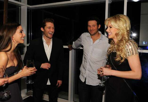 DALLAS, TX - FEBRUARY 05:  (L-R) Actress Jessica Lowndes, actor Matthew Morrison, Dallas Cowboys Quarterback Tony Romo and television personality Candice Crawford attend a private dinner hosted by Audi during Super Bowl XLV Weekend at the Audi Forum Dallas on February 5, 2011 in Dallas, Texas.  (Photo by Michael Buckner/Getty Images for Audi) *** Local Caption *** Jessica Lowndes;Matthew Morrison;Tony Romo;Candice Crawford Photo: Michael Buckner, Getty Images For Audi / 2011 Getty Images