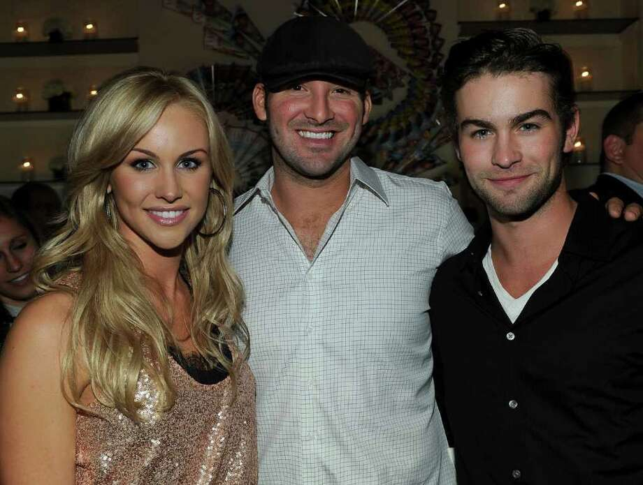 WASHINGTON - APRIL 30: (L-R) Journalist Candice Crawford, NFL player Tony Romo and actor Chace Crawford attend the PEOPLE/TIME party on the eve of the White House Correspondents' Dinner at the St Regis Hotel - Astor Terrace on April 30, 2010 in Washington, DC.  (Photo by Larry Busacca/Getty Images for Time Inc) *** Local Caption *** Candice Crawford;Tony Romo;Chace Crawford Photo: Larry Busacca, Getty Images For Time Inc / 2010 Getty Images