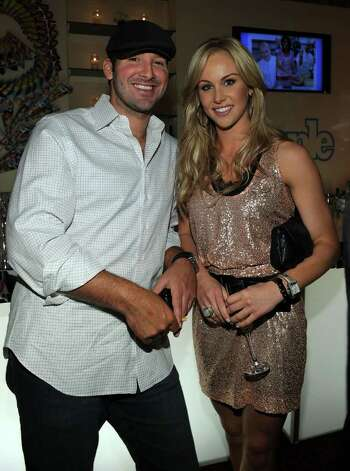 WASHINGTON - APRIL 30:  NFL player Tony Romo and journalist Candice Crawford attend the PEOPLE/TIME party on the eve of the White House Correspondents' Dinner at the St Regis Hotel - Astor Terrace on April 30, 2010 in Washington, DC. Photo: Larry Busacca, Getty Images / 2010 Getty Images