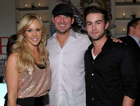 WASHINGTON - APRIL 30:  (L-R) Journalist Candice Crawford, NFL player Tony Romo and actor Chace Crawford attend the PEOPLE/TIME party on the eve of the White House Correspondents' Dinner at the St Regis Hotel - Astor Terrace on April 30, 2010 in Washington, DC. Photo: Michael Loccisano, Getty Images / 2010 Getty Images