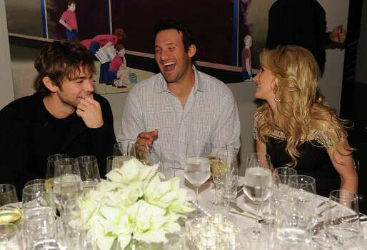 DALLAS, TX - FEBRUARY 05: (L-R) Actor Chace Crawford, Dallas Cowboys Quarterback Tony Romo and television personality Candice Crawford attend a private dinner hosted by Audi during Super Bowl XLV Weekend at the Audi Forum Dallas on February 5, 2011 in Dallas, Texas. Photo: Michael Buckner, Getty Images / 2011 Getty Images