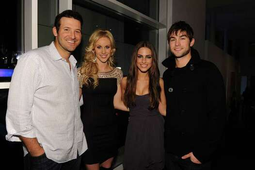 DALLAS, TX - FEBRUARY 05: (L-R) Dallas Cowboys Quarterback Tony Romo, television personality Candice Crawford, actress Jessica Lowndes and actor Chace Crawford attend a private dinner hosted by Audi during Super Bowl XLV Weekend at the Audi Forum Dallas on February 5, 2011 in Dallas, Texas. Photo: Michael Buckner, Getty Images / 2011 Getty Images