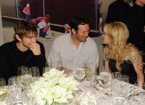 DALLAS, TX - FEBRUARY 05: (L-R) Actor Chace Crawford, Dallas Cowboys Quaterback Tony Romo and television persoanlity Candice Crawford attend a private dinner hosted by Audi during Super Bowl XLV Weekend at the Audi Forum Dallas on February 5, 2011 in Dallas, Texas. Photo: Michael Buckner, Getty Images / 2011 Getty Images