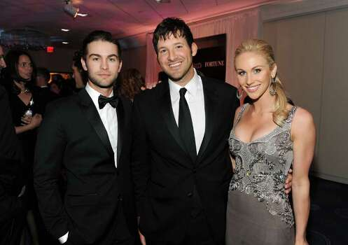 WASHINGTON, DC - APRIL 30:  (L-R)  Actor Chace Crawford, NFL player Tony Romo and Candice Crawford attend the TIME/CNN/People/Fortune White House Correspondents' dinner cocktail party at the Washington Hilton on April 30, 2011 in Washington, DC. Photo: Getty Images