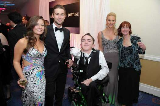 WASHINGTON, DC - APRIL 30: (L-R) Chelsea Campbell, actor Chace Crawford, Brian Glassmacher, Candice Crawford and Ellen Reilly attend the TIME/CNN/People/Fortune White House Correspondents' dinner cocktail party at the Washington Hilton on April 30, 2011 in Washington, DC. Photo: Getty Images