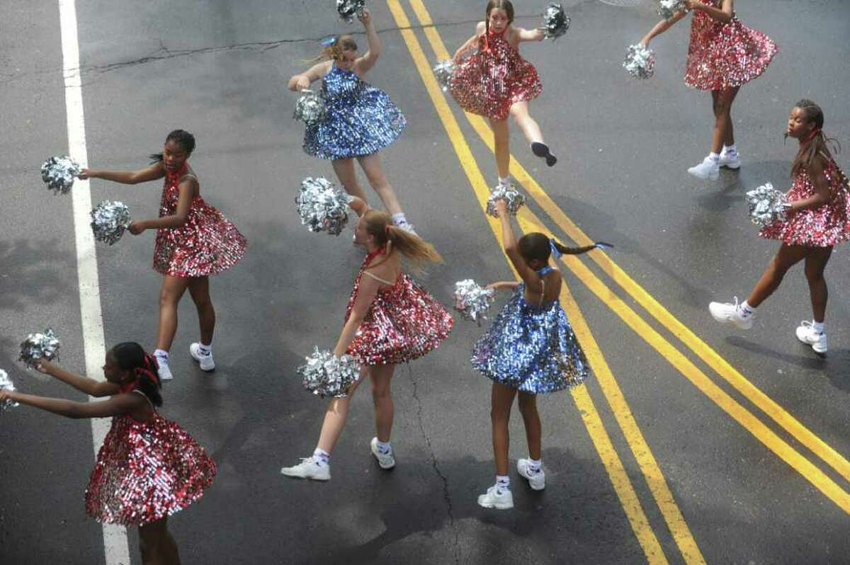 Allegra Dance at the Old Greenwich Memorial Day Parade down Sound Beach Avenue on Monday, May 30, 2011.