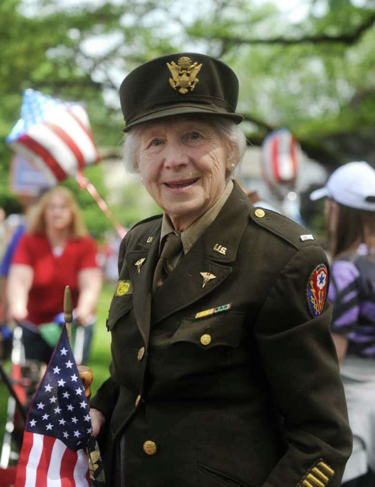 Veteran Helen Roman at the ceremony in Binney Park after the Old Greenwich Memorial Day Parade down Sound Beach Avenue on Monday, May 30, 2011.