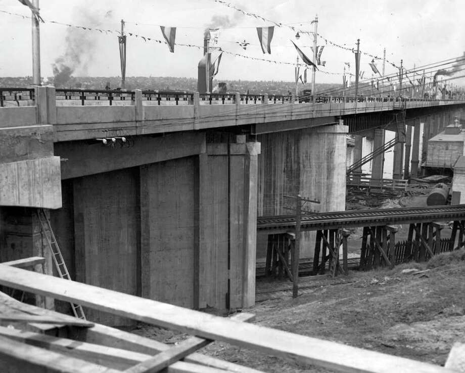 The Ballard Bridge, May 1940. Photo: Seattlepi.com File