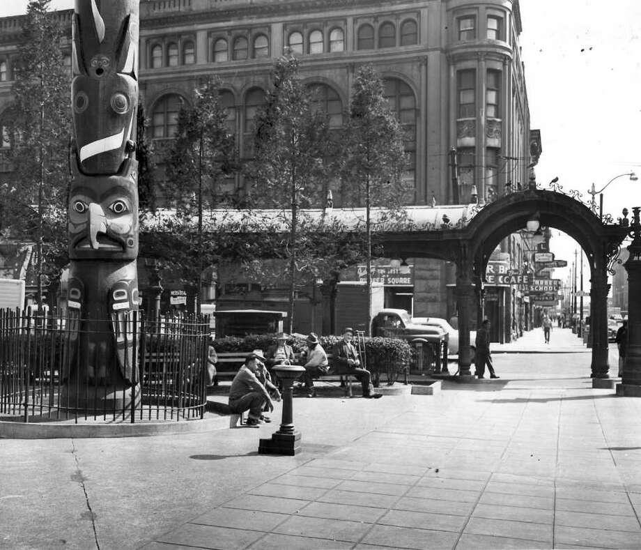 Pioneer Square, May 9, 1956. Photo: Seattlepi.com File / seattlepi.com