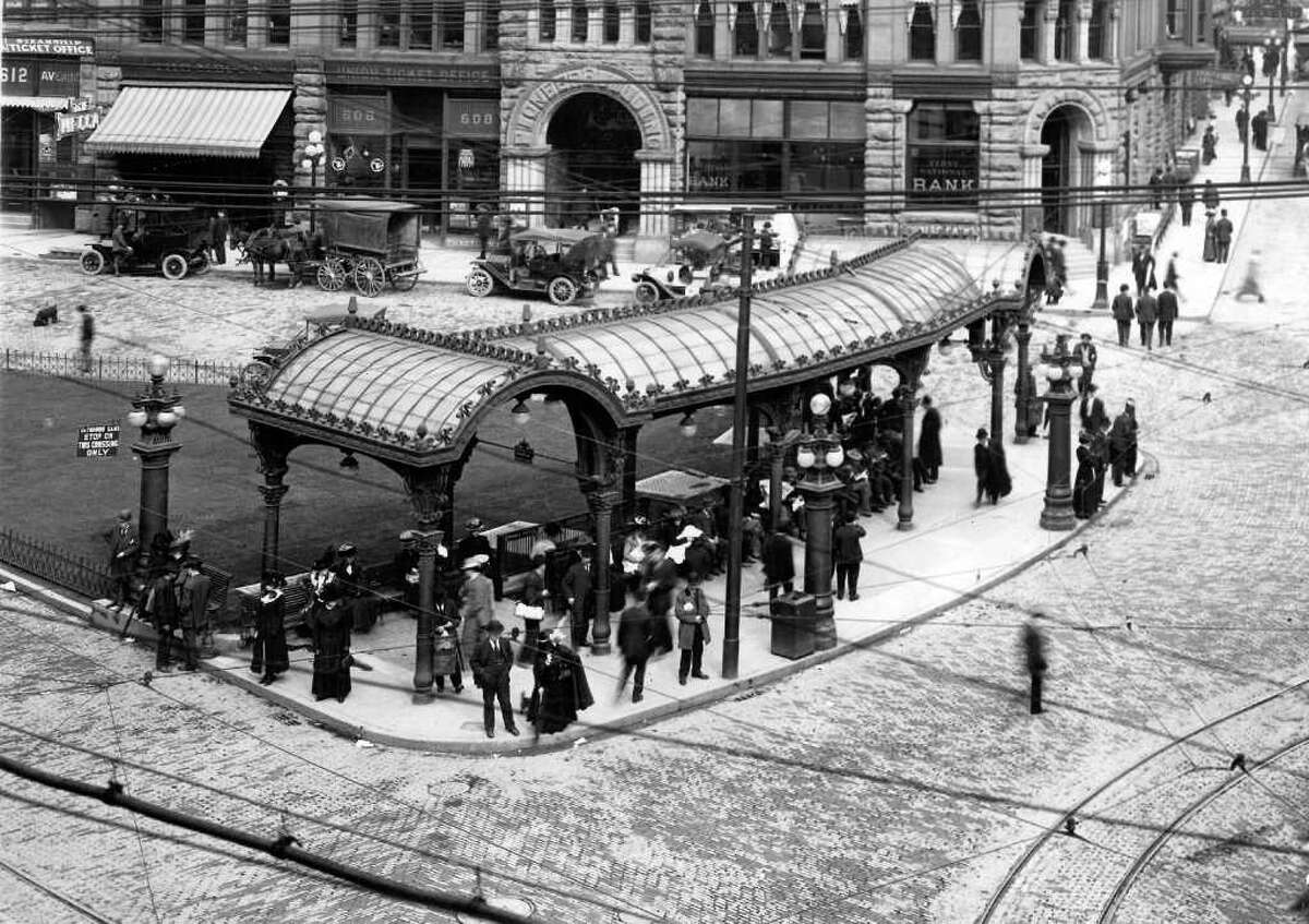 An undated photo of Pioneer Square.