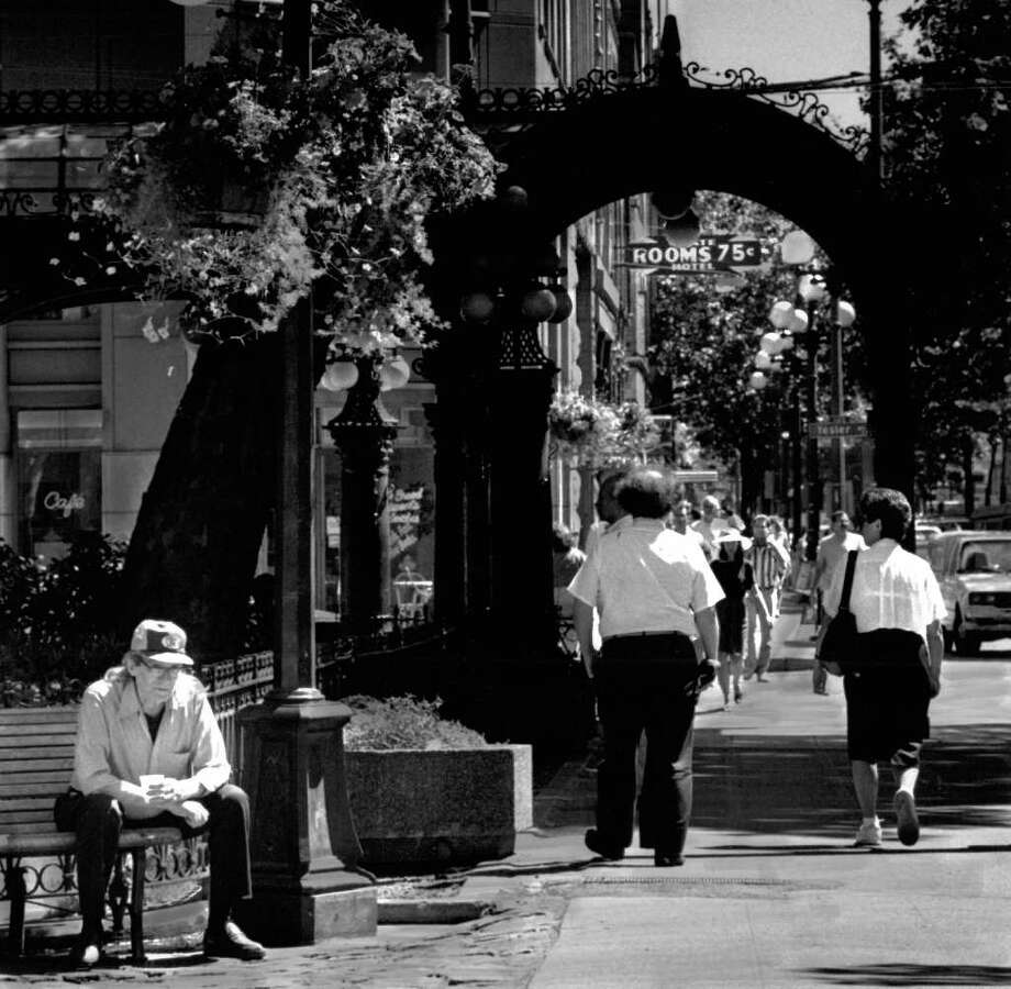 Pioneer Square, July 3, 1991. Photo: Seattlepi.com File / seattlepi.com