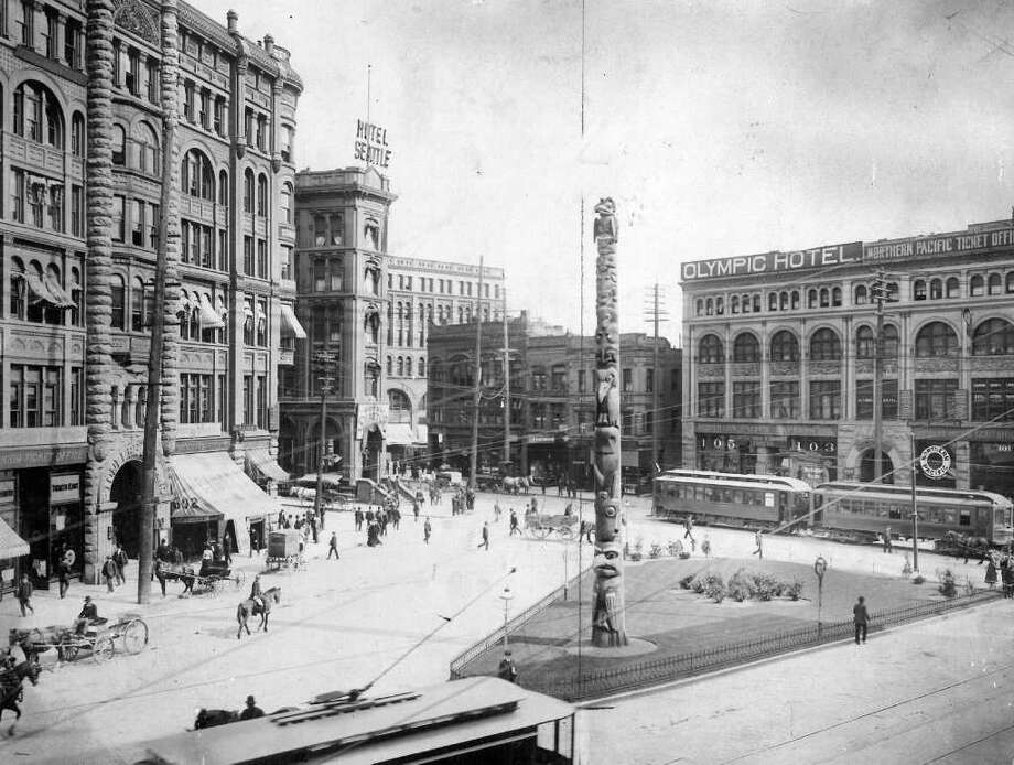 A historic image of Pioneer Square. Photo: Seattlepi.com File / seattlepi.com