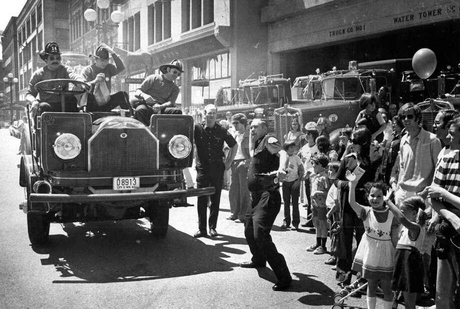 The fire festival in Pioneer Square, June 3, 1977. Photo: Seattlepi.com File / seattlepi.com