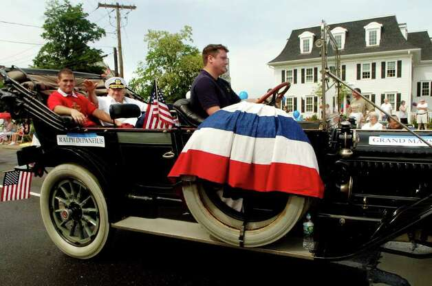 Grand Marshall Ralph DePanfilis rides in the Norwalk, Conn. Memorial Day Parade on Monday May 30, 2011. Photo: Dru Nadler / Stamford Advocate Freelance