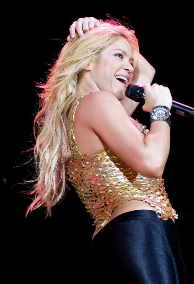Shakira performs in concert at the Lluis Campanys Olympic Stadium in Barcelona, Spain. Photo: Robert Marquardt, Getty Images / 2011 Getty Images