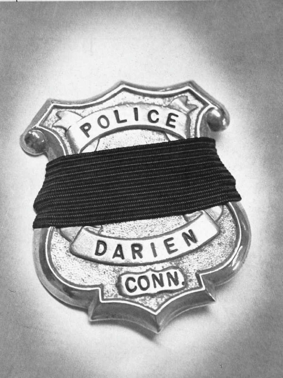 June 1981 - Darien police badge - Darien Policeman Kenneth Bateman slain during robbery at Duchess resturant in 1981