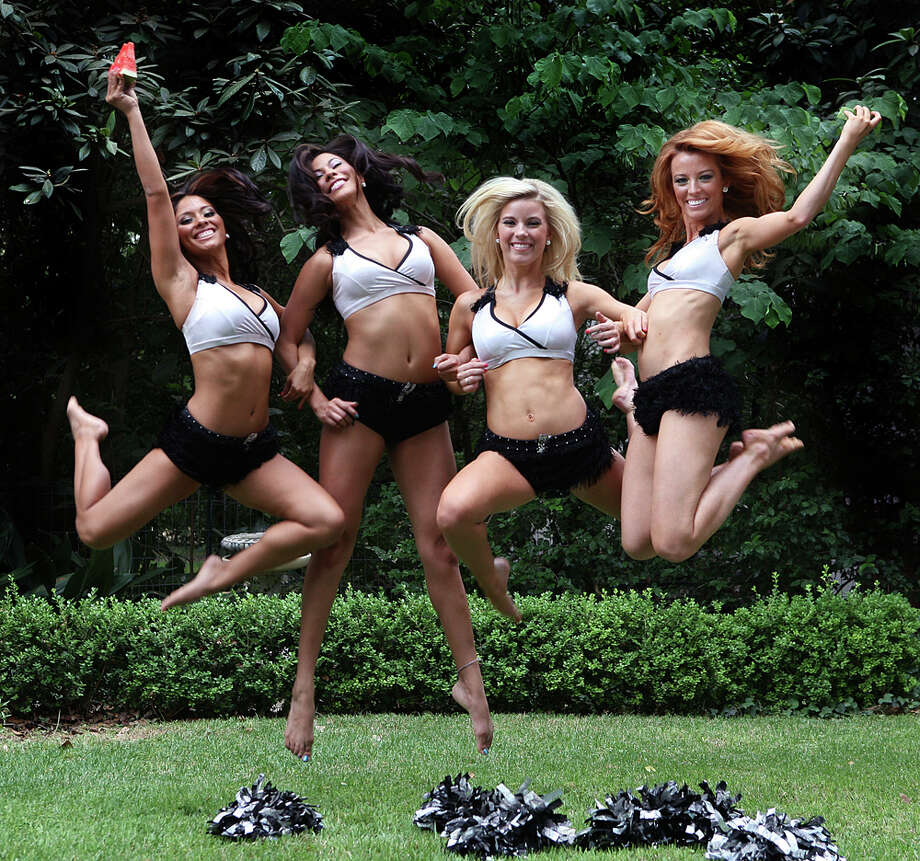 Mandy Correa (from left), Veronica Lind, Melissa Stewart and Heather Easley show their spirit for the San Antonio Spurs - win or lose - and their fans. This year's squad comprises 15 dancers who also offer their skills at community events and personal appearances across the city. Tryouts for the 2011-2012 season - the squad's 20th anniversary - begin late July or early August, reports Raquel Torres Garcia, the Spurs Silver Dancers choreographer. A former Silver Dancer (for five seasons), Garcia just completed her eighth season as the group's dance coach. The only requirement for interested dancers is being 19 years old and, of course, knowing how to bust a move. To that end, Torres will offer prep classes this month for women interested in auditioning for a spot. The classes consist of two hours of dance technique and dance combinations that are often performed. For more info on tryouts and the dancers, go to www.spurs.com. KEVIN GEIL / SPECIAL TO THE EXPRESS-NEWS