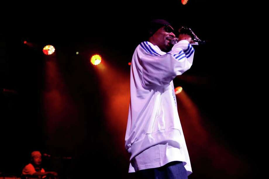 Westcoast rapper Snoop Dogg performs Sunday night, May 29th, at B.O.M.B. Fest Comcast Theatre, Hartford, CT Photo: Adriana Sanchez / Stamford Advocate Freelance