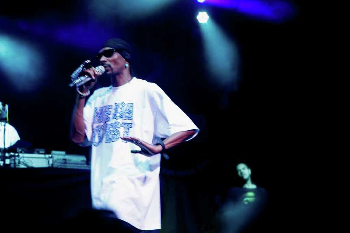 Westcoast rapper Snoop Dogg performs Sunday night, May 29th, at B.O.M.B. Fest Comcast Theatre, Hartford, CT