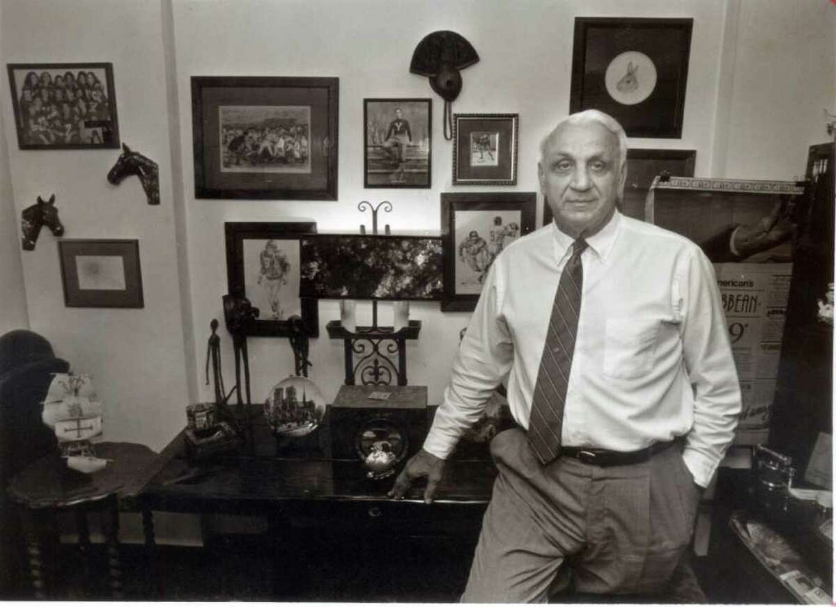 Andy Robustelli in his office at Robustelli Travel May 20, 1991. Robustelli, an NFL Hall of Famer and Stamford resident, died Tuesday, May 31, 2011 at 85.