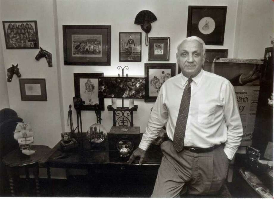 Andy Robustelli in his office at Robustelli Travel May 20, 1991. Robustelli, an NFL Hall of Famer and Stamford resident, died Tuesday, May 31, 2011 at 85. Photo: File Photo / Stamford Advocate File Photo