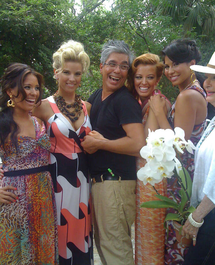Express-News fashion writer Michael Quintanilla recruited a few of the Spurs Silver Dancers to model summer dresses suitable for an patio party. TERRY SCOTT BERTLING / EXPRESS-NEWS