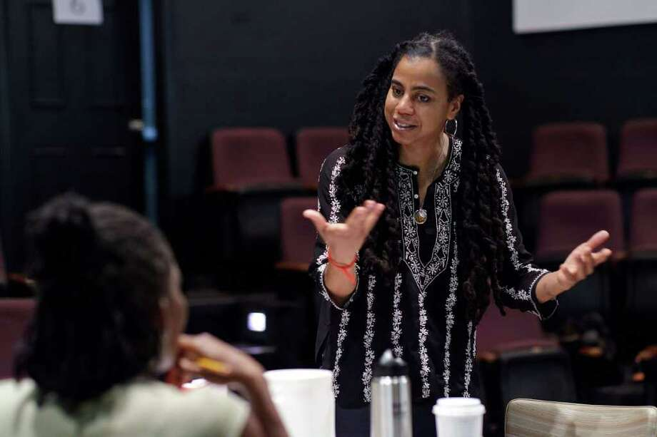 "Suzan-Lori Parks giving direction to Nadine Mozon who plays ""Grace"" in the Zach Theatre staging of ""The Book of Grace."" KIRK R. TUCK Photo: Kirk Tuck, Owner/photographer / ©kirk tuck 2010"