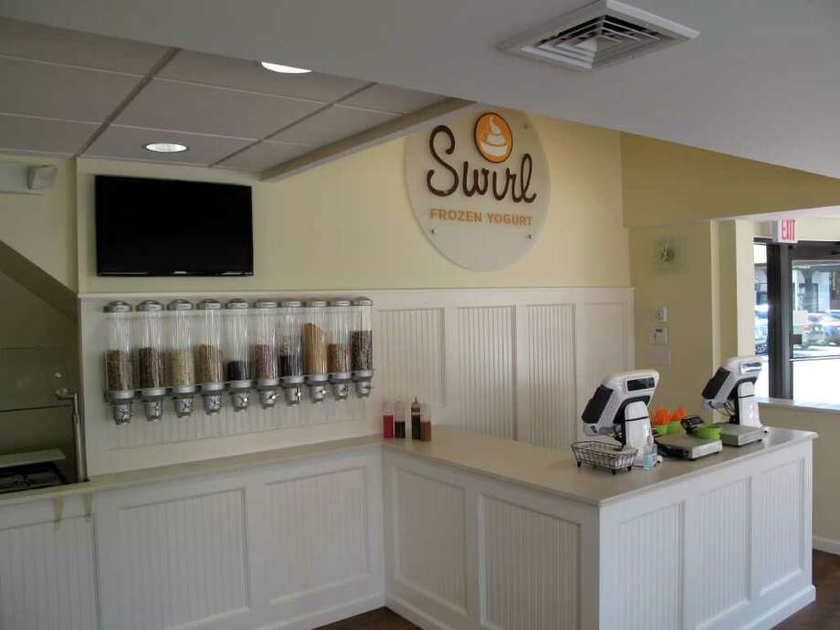 Swirl Frozen Yogurt is open for business on Cherry Street. Photo: Contributed Photo / New Canaan News
