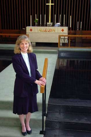 Marjo Anderson is the new pastor at Salem Lutheran Church in Bridgeport, Conn. May 31st, 2011. Photo: Ned Gerard / Connecticut Post
