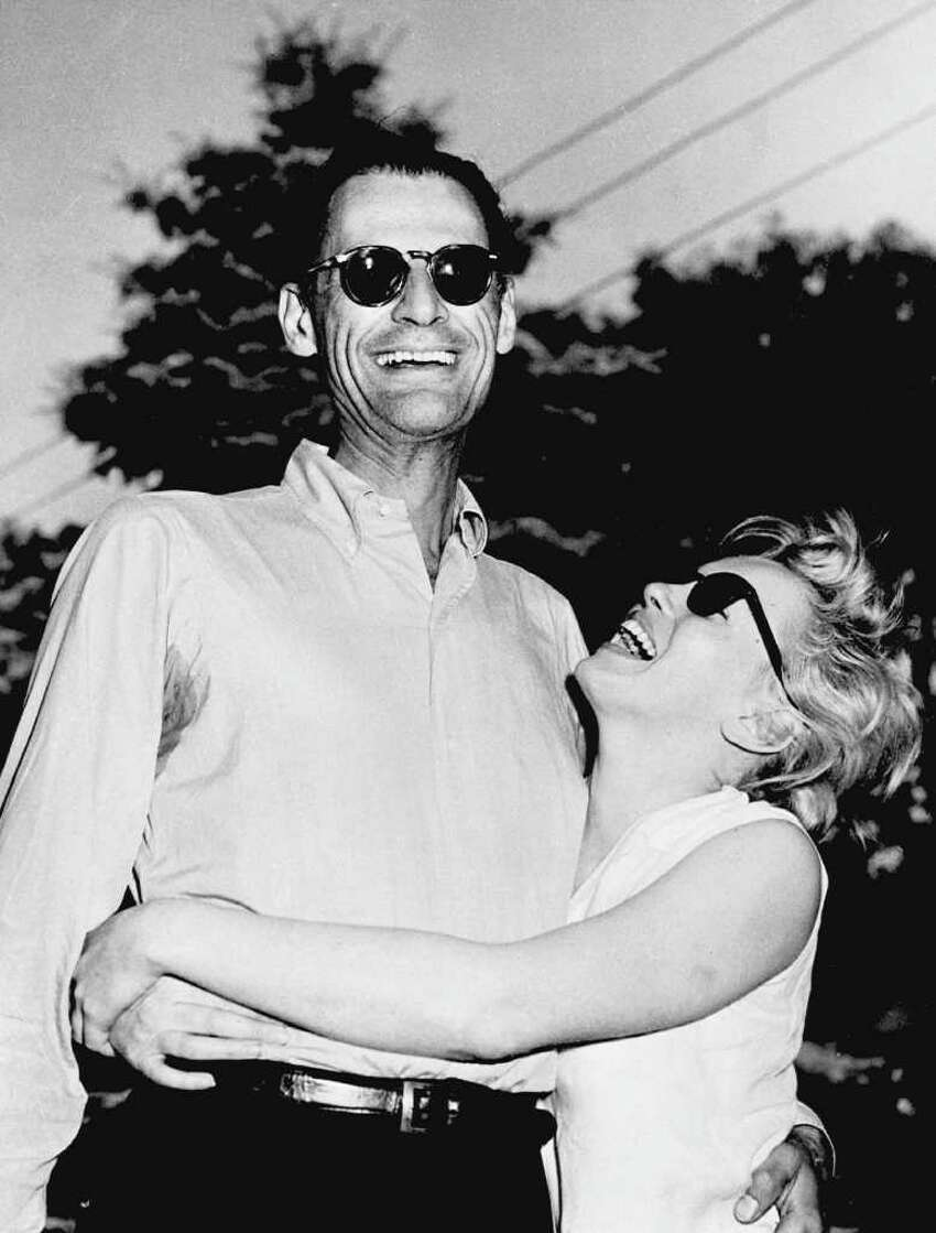 Picture dated 27 June 1956, in Connecticut showing American writer Arthur Miller and actress Marilyn Monroe few days before they get married.