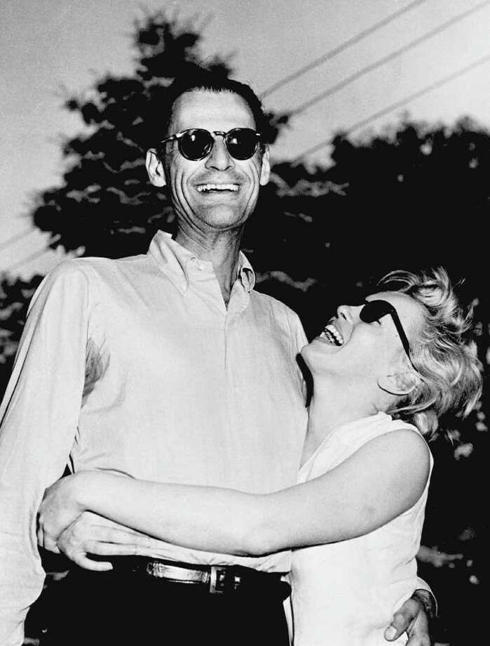 Monroe with  American writer Arthur Miller in Connecticut on June 27, 1956, a few days before they got married. Photo: AFP, AFP/Getty Images / AFP