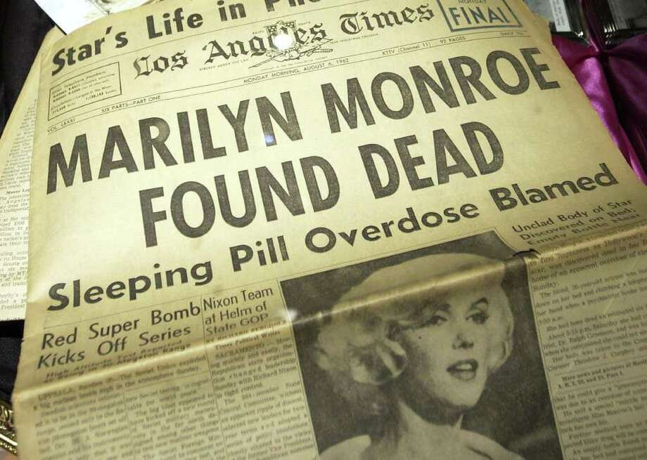 Monroe was found dead beside an empty bottle of sleeping pills on August 5, 1962 in her Los Angeles home. The cause was found to be an overdose. Photo: Amanda Edwards, Getty Images / 2005 Getty Images