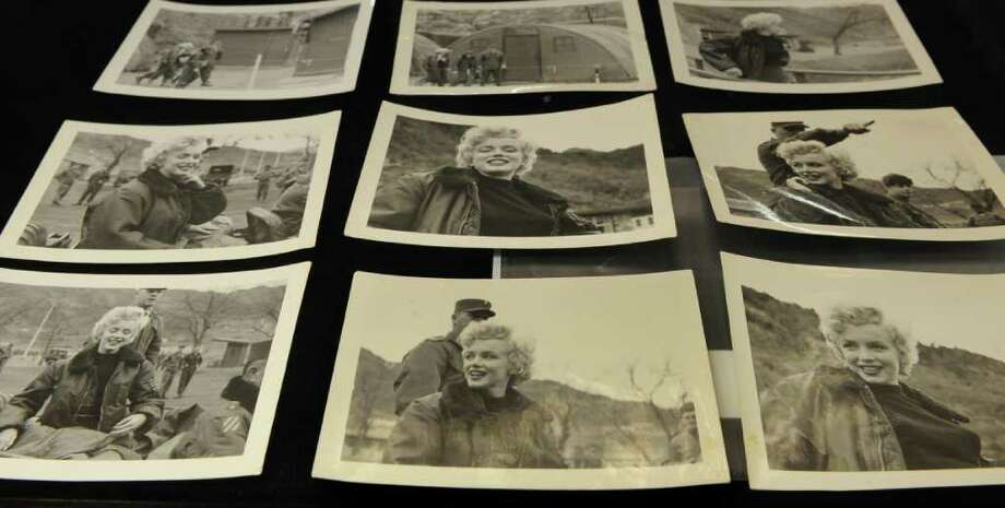 A collection of never-before-seen photos of Monroe in Korea in 1954, on display during a preview for an auction in Los Angeles on June 12, 2009.  Photo: AFP/Getty Images
