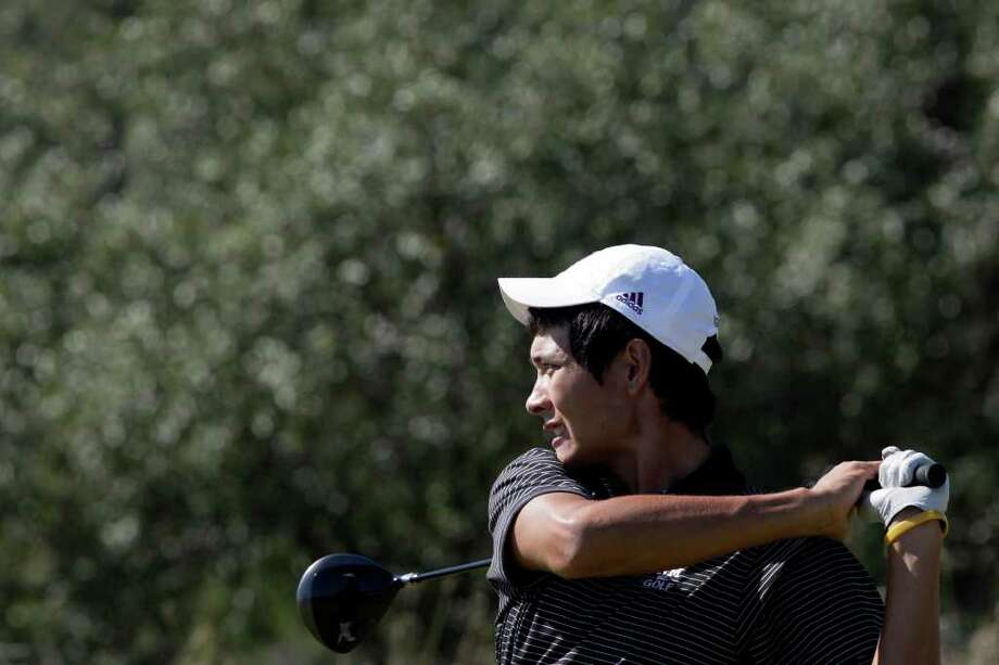 Texas A&M University golfer Cameron Peck — seen here at the 2009 UTSA Lone Star Invitational — is second in the individual standings at 4-under 68 after one round of the NCAA championships in Stillwater, Okla. Photo: Express-News File Photo / glara@express-news.net
