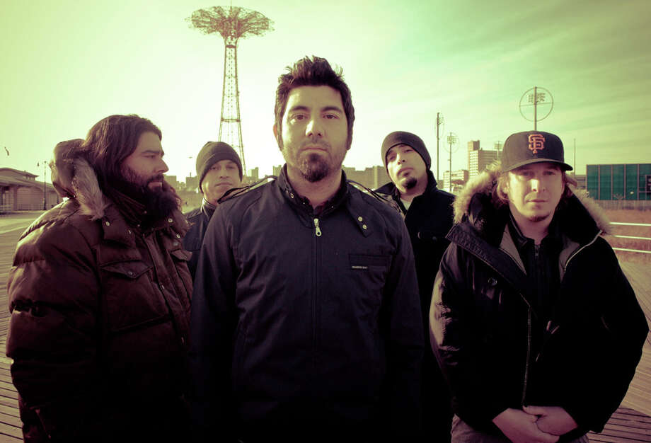 Members of the Deftones metal band include Stephen Carpenter (from left), Sergio Vega, Chino Moreno, Frank Delgado and Abe Cunningham. COURTESY PHOTO
