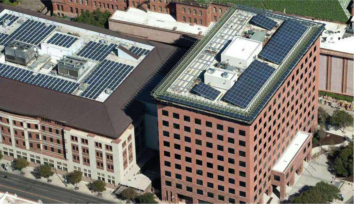 Bexar County's Paul Elizondo Tower won a Bill Sinkin Solar Award for a commercial or government building.