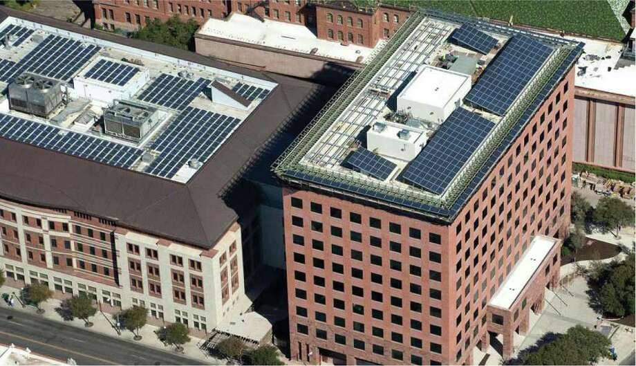 Bexar County's Paul Elizondo Tower won a Bill Sinkin Solar Award for a commercial or government building. Photo: Courtesy Of Build San Antonio Gr