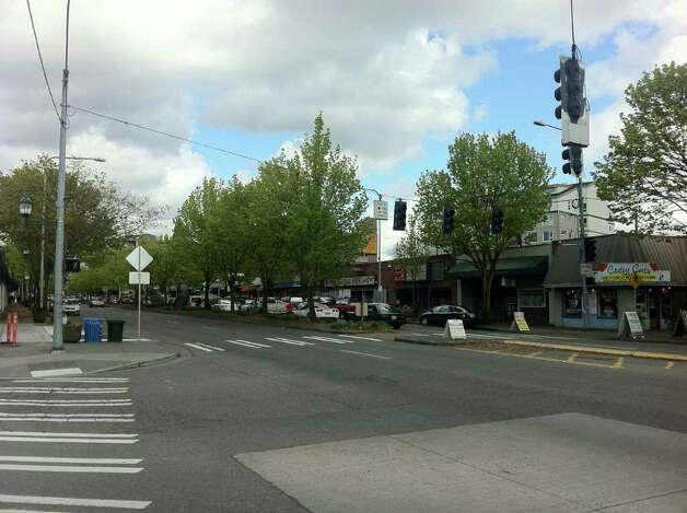 A May 2011 photo looking north at the intersection of what's now Lake City Way Northeast and 30th Avenue Northeast. Photo: Casey McNerthney/seattlepi.com
